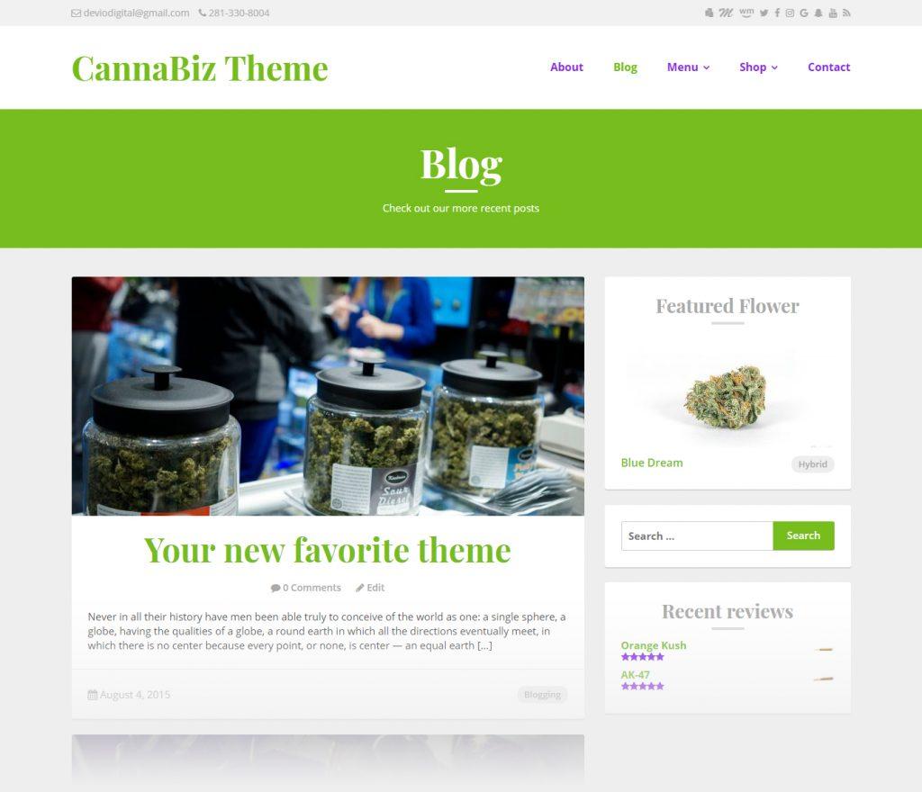 CannaBiz WordPress theme