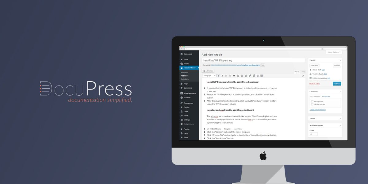 DocuPress: documentation simplified. Release notes for my newest open source WordPress plugin